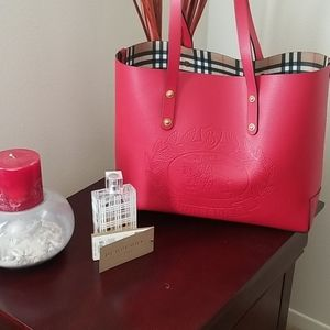 Burberry  Embossed Tote